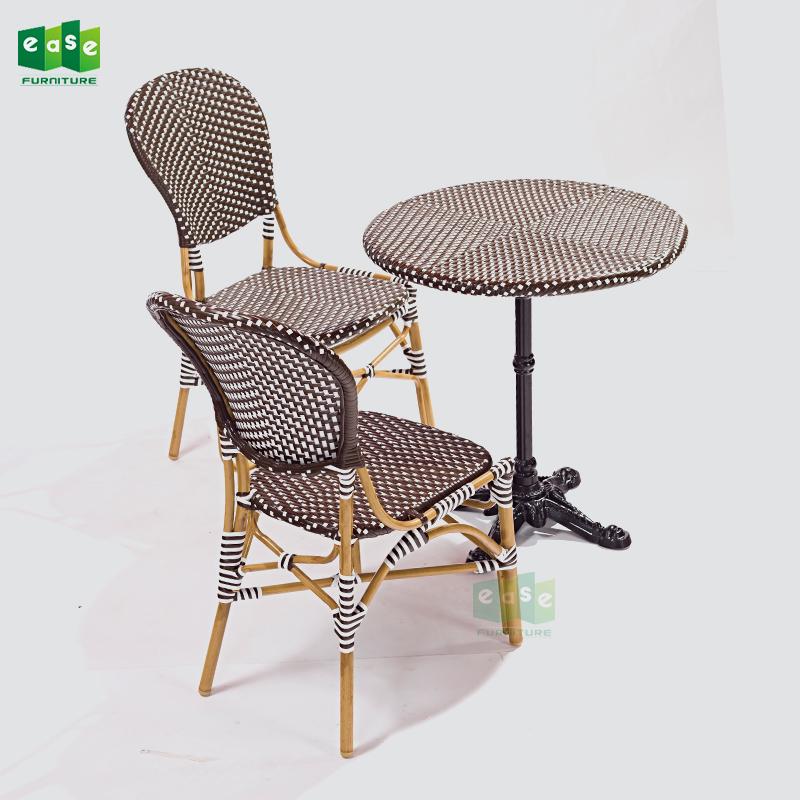 French 비스트로 등나무 식사 짠 와 의자 표 대 한 레스토랑 (E3012 set)