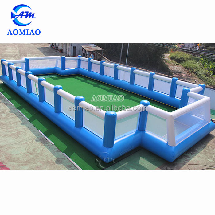Popular PVC good quality inflatable soccer field football pitch for adult and kids