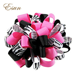 Koker lovely boutique solid color looped hair bow clips
