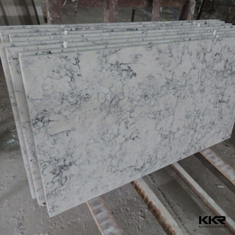 Gray Sparkle Quartz Slab Countertop Ice White