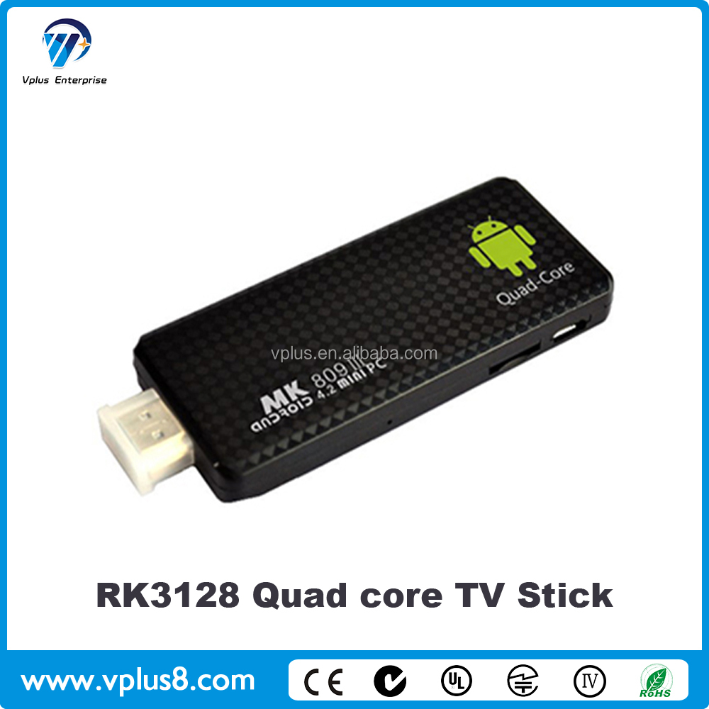 Vplus 32-5R RK3128 IPTV <strong>Dongle</strong> Android <strong>TV</strong> <strong>Stick</strong> Full HD Video <strong>TV</strong> <strong>Stick</strong> MK809 IV 2G RAM/16GB ROM