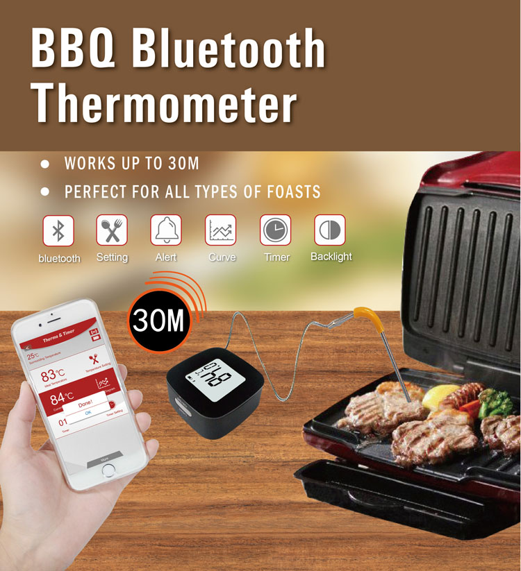 Bluetooth Cooking Food Meat Digital Thermometer