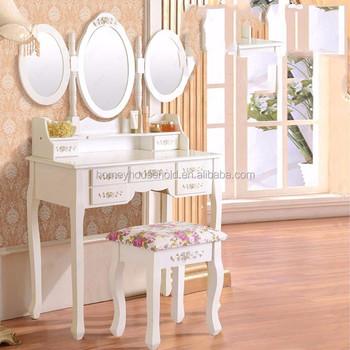 Camera da letto principessa imposta shabby chic vanit di trucco scrivania tavolo da toeletta - Toletta da camera ...