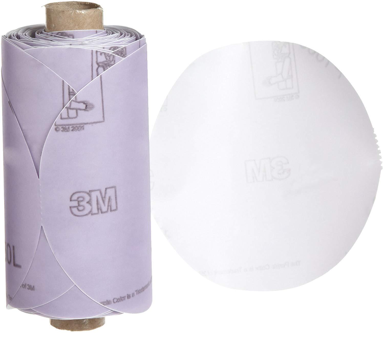 "3M Stikit Film Disc Roll 360L, PSA Attachment, Aluminum Oxide, 5"" Diameter, P1000 Grit (Roll of 125)"