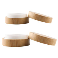 30/50//100/120/150/200/250ML Natural bamboo Jars Cosmetic Makeup Vial Face Cream Balm Containers