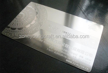 Silver Stainless Steel Laser Cut Business Card Buy Laser Cut