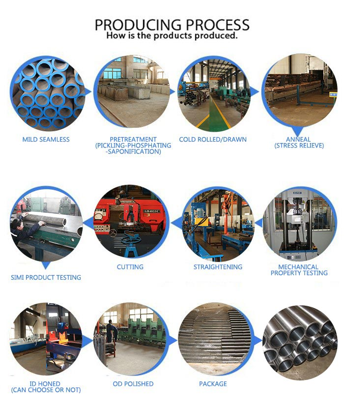 Hydraulic Cylinder using Honed SRB Seamless steel pipe