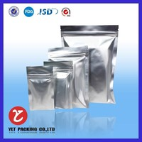 Aluminum foil moisture proof resealable heat seal compound clear plastic bag with hang hole for fruit/food