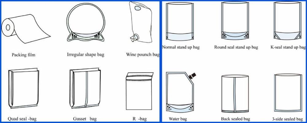 fin  lap seal gravure printing heat seal multilayer laminated material plastic bag for apple  okra
