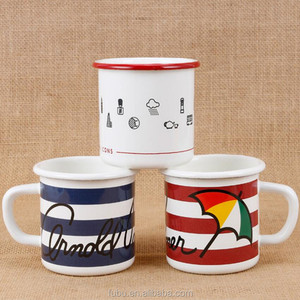 Enamel Cookware Camping m&m Coffee Mug Cups Set of 6, Eco-friendly Design BPA Free