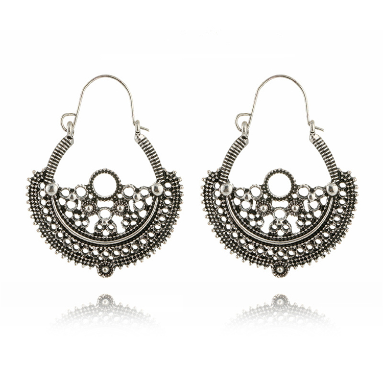 Vintage Bohemian Ethnic Style Hollow Out Drop Earings Carving Dangle Earings Aretes