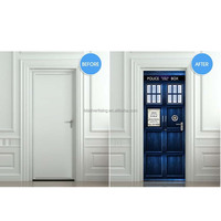 "Wall Door STICKER Who Police box movie sticker, mural, decole, film 30x79"" (77x200 Cm): Home & Kitchen"