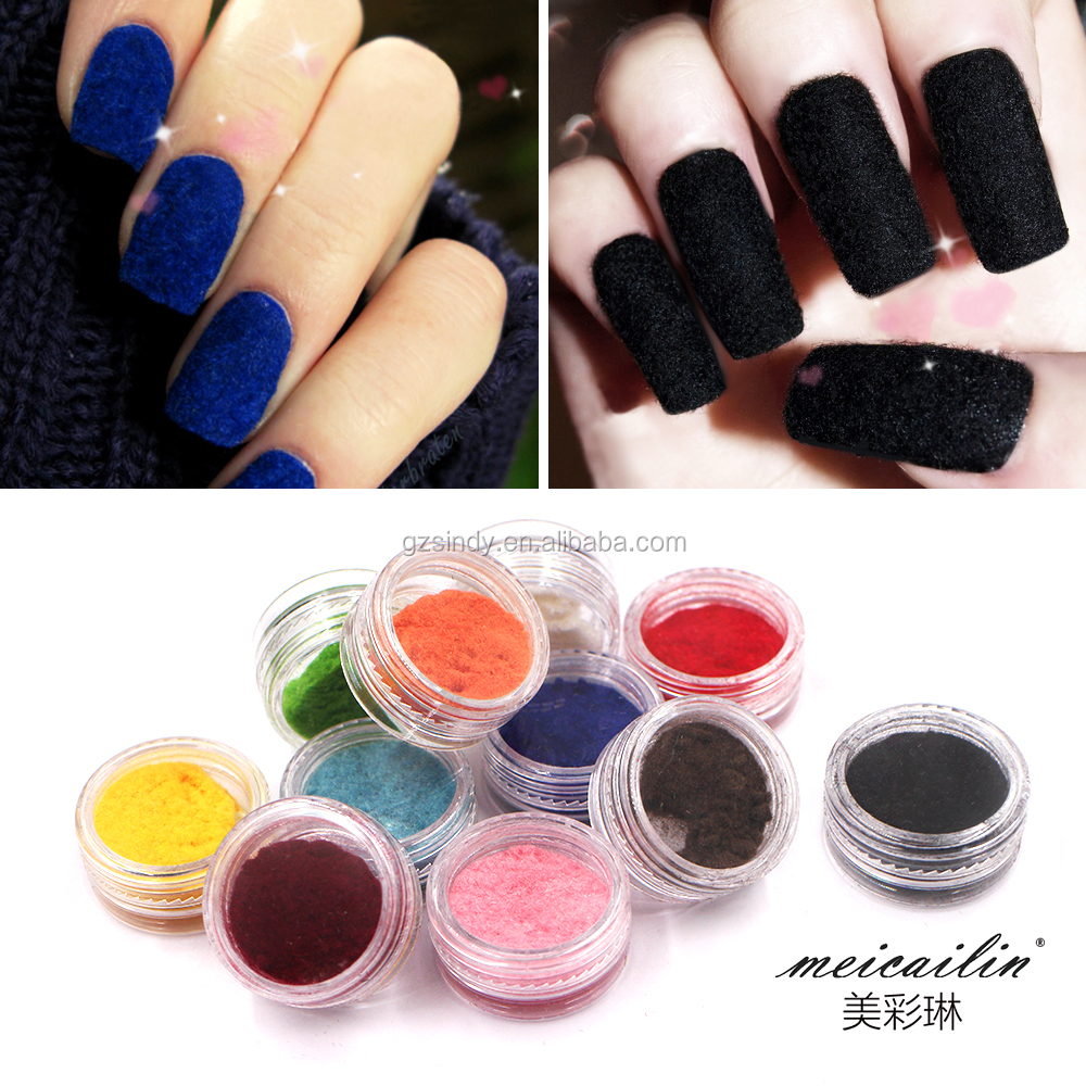 New Nail Art Design Velvet Powder Nail Glitter Powder For Nail Art ...