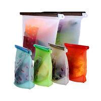Reusable Silicone Food Storage Bags Airtight Seal Food Preservation Bags/Food Grade/Versatile Preservation Bag Container