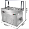 Double pan fried ice cream roll machine with food cart/fast food carts/trailer