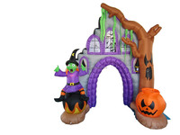 270cm/9ft tall Halloween arch inflatable, haunted house and witch & dead tree yard decoration