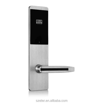 Free Software Electronic ANSI RFID Card Key Hotel Door Lock With Manual Key