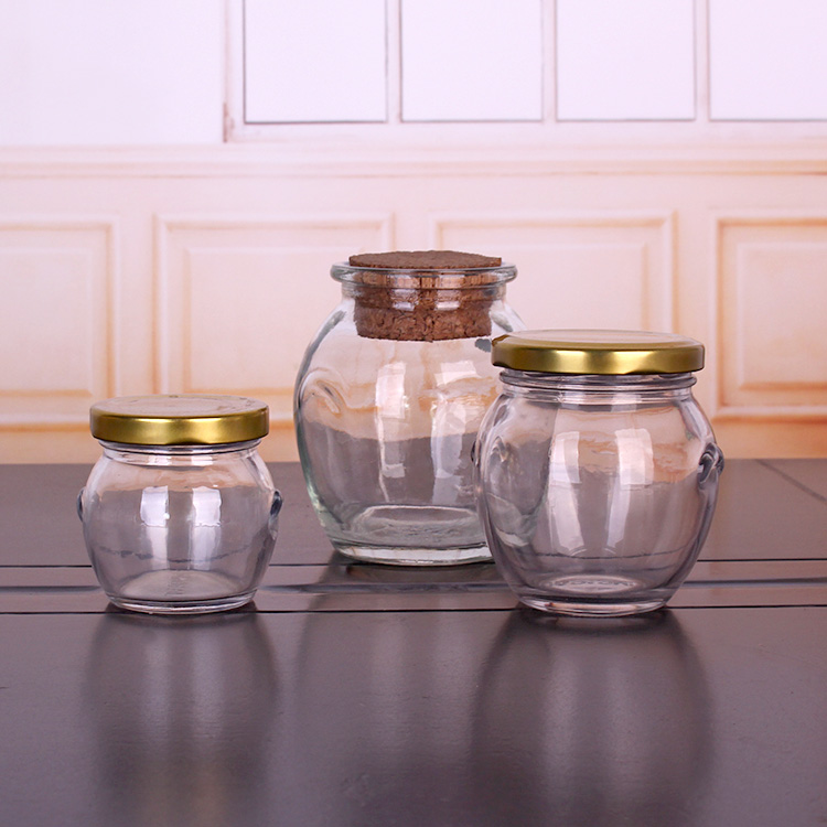 100ml 200ml 390ml 650ml belly glass jar for pickles cucumber and twist off lid