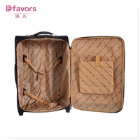 In stock pu luggage tag with emboss logo bag raw material pu luggage leather multi layer travel pu luggage bag with high quality