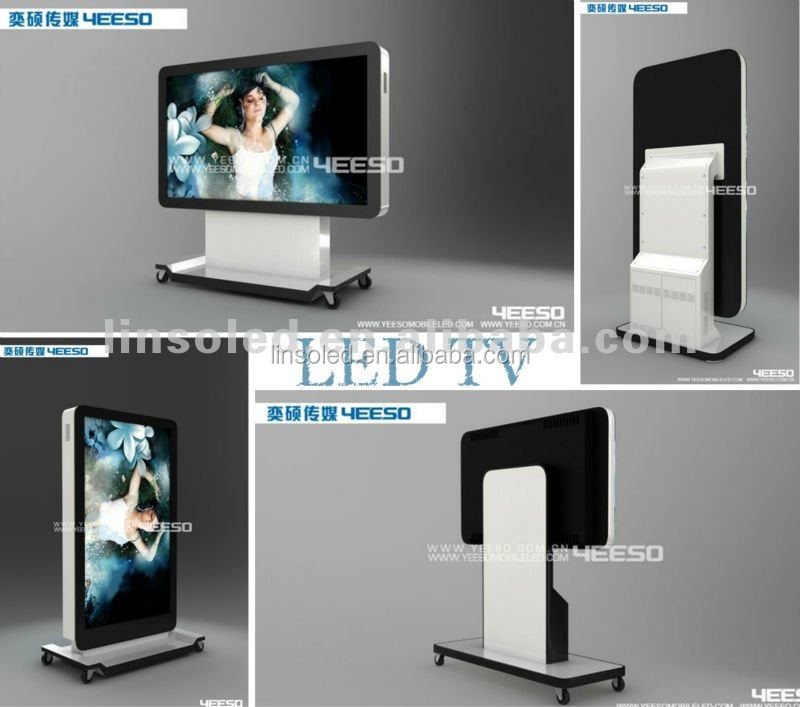 Indoor advertising led tv display CE,UL,ROHS approved mobile P4 HD LED TV display