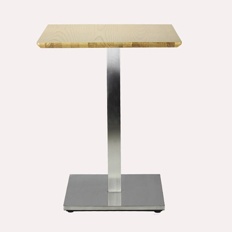 Stainless Steel One Leg Table For Tea Shop