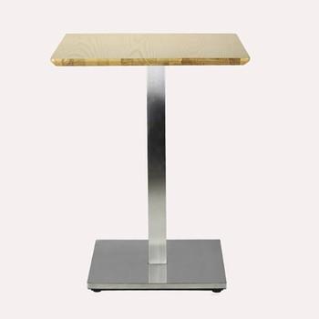 Elegant Stainless Steel One Leg Table For Tea Shop