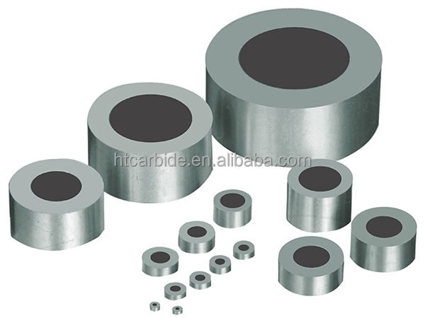 Tungsten carbide supported diamond wire drawing die blanks