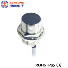 M30 x 40mm Brass Body Flush Cylindrical Inductive Proximity Sensor/Switch 22mm Long Sensing Distance NPN PNP 2m cable