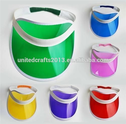 wholesale custom cheap uv protection pvc plastic sun visor hat cap and plastic sun visor