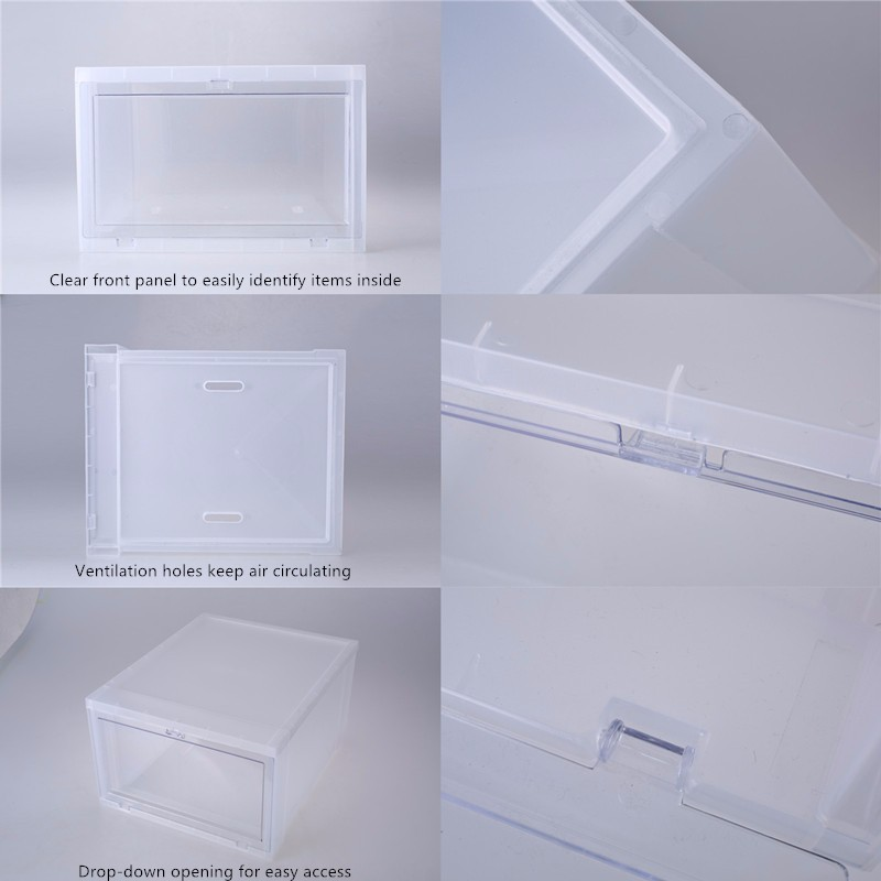 Home Storage Organization Whole Custom Drop Front Shoe Box