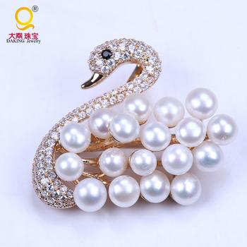 Wholesale Wedding Invitation Brooch Pearl Animal Brooch Buy Pearl