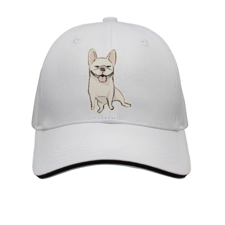 603c8c74e81 Get Quotations · Kr.JAIEN Sandwich Peak Cap Adjustable Cap Black Bulldog  Dog Comfortable Peaked Cap for Boy
