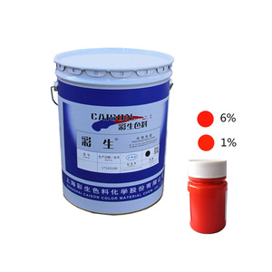 polyurethane pigment preparation for PE crafts