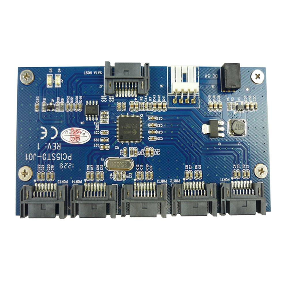 Eleduino 1 Turn 5 SATA Expansion Card SATA Port Multiplier SATA Adapter Card Suport Banana Pro/Banana P