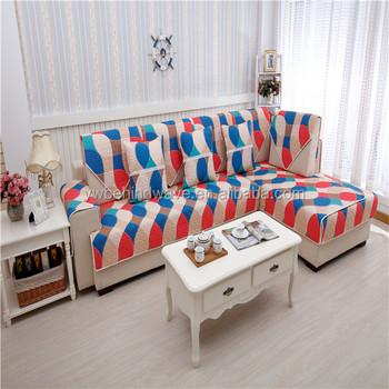 Cotton Sofa Cover Fashion Cheap Anti Slip Quilting Sofa Set Covers