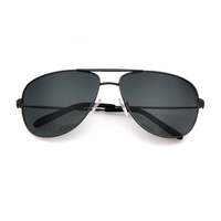 TAC polarized lens large metal aviation sunglasses men