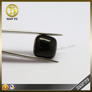 Large size black agate square cabochons black agate stone for ring