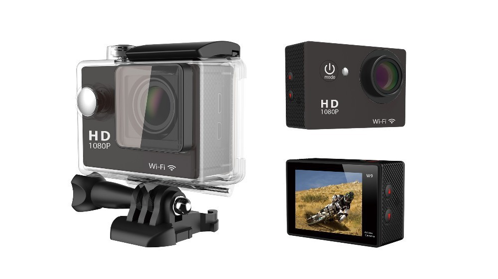Gopro SJ6000 Style Full HD DVR Action Camera W9 Wifi 1080P  Waterproof 30M Mini