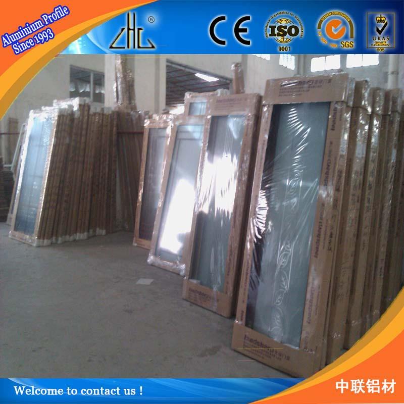 Best! Powder Coating Wood Color Aluminium Door Frame Profile ...