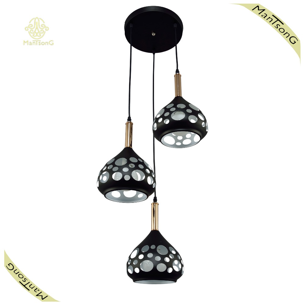 <strong>Modern</strong> High Reputation Product Iron Pendant Lamp Coffee Bar Black Pendant Light Kitchen Dining Lamp