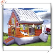 Wood House inflatable Bouncer