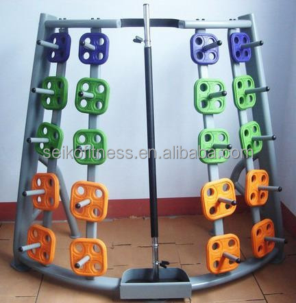 weight lifting plate rack/fitness equipment