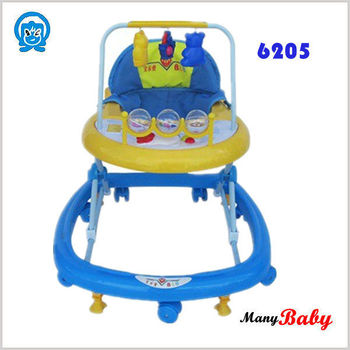 Stylish Swivel Wheels Baby Walker For Tall Baby Blue With
