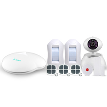 IOS/Android APP auto dial intelligent home burglar wireless security gsm alarm system with HD wifi camera monitoring