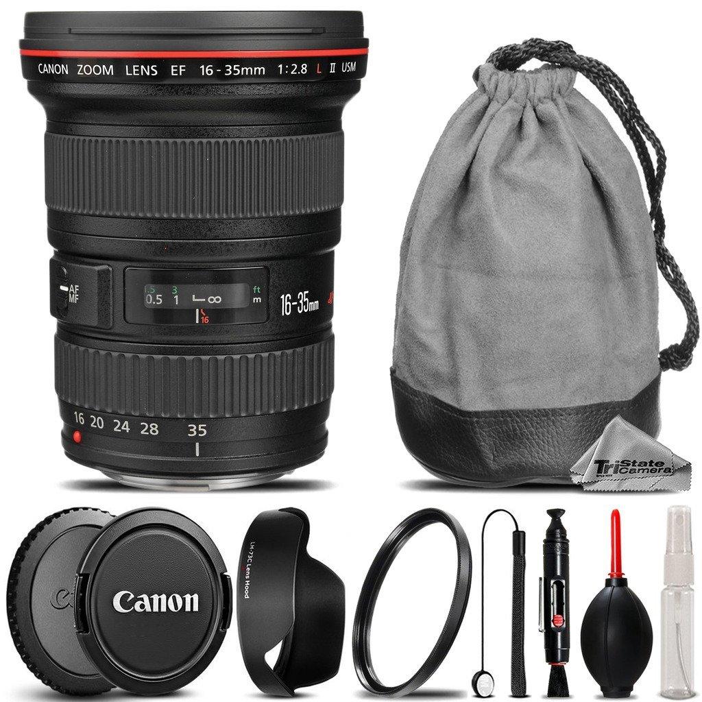 Canon EF 16-35mm f/2.8L II USM Lens + UV Filter + Lens Cap Holder + Cleaning Brush + Air Cleaner + Cleaning Kit - International Version