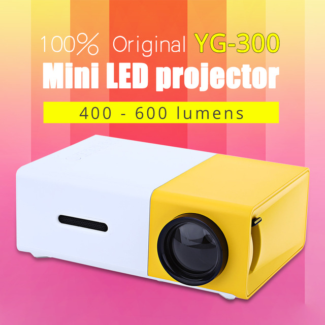 Cheap Pocket Type Mini <strong>Projector</strong> YG300 1080P 320x240 Pixel 400-600 Lumens Lithium Battery HDMI