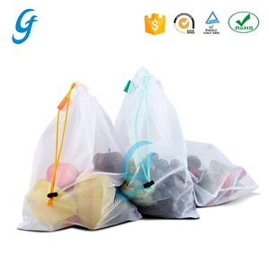 Eco-friendly toy storage fruit mesh bag /vegetable mesh fabric bag for supermarket