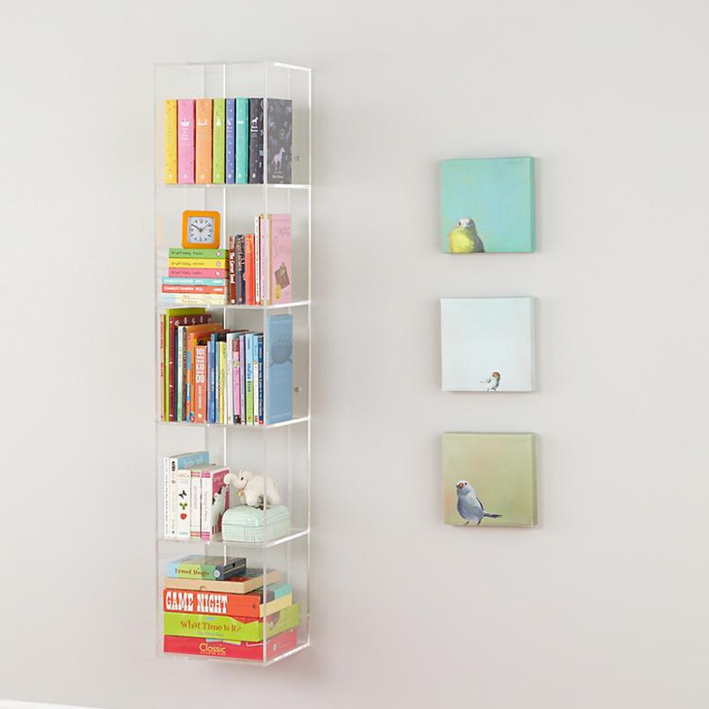 Wall Mounted Acrylic Bookcase Book Shelf,Custom Acrylic Book Display Stand  Book Holder - Buy Wall Mounted Acrylic Bookcase Book Shelf,Custom Acrylic