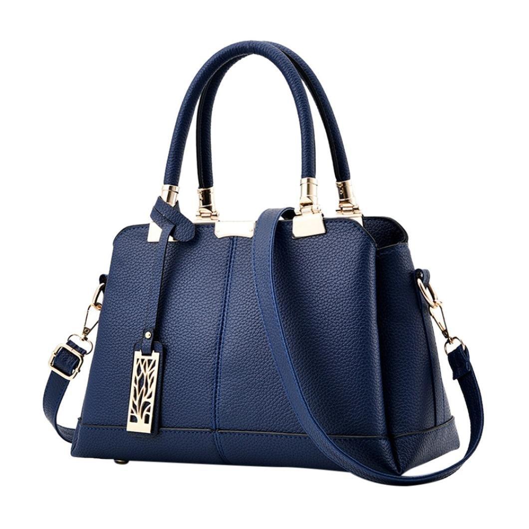Crossbody Bag, NXDA Women Lichee Pattern Shoulder Bags Handbags Crossbody Bag Bucket Bag For Women and Girls (Blue)