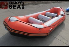 2017 made in China Inflatable river rafting boats AR-440 orange and light grey for sale!!!